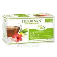 Herbesan Infusion Bio Tisane Détox 20 Sachets à LABENNE