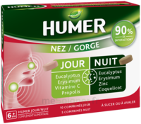 Humer Nez/gorge Jour&nuit 15 Comprimés à LABENNE