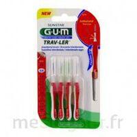 Gum Trav - Ler, 0,8 Mm, Manche Rouge , Blister 4 à LABENNE