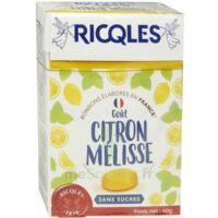 Ricqles Sucres Cuits Bonbon Citron Mélisse Sans Sucre B/40g à LABENNE