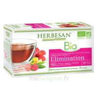 Herbesan Hibiscus Bio Tisane élimination 20 Sachets à LABENNE