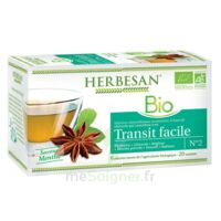 Herbesan Infusion Bio Tisane Transit Facile 20 Sachets à LABENNE