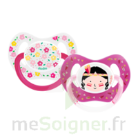 Dodie Duo Sucette Anatomique Silicone +18mois Girly à LABENNE