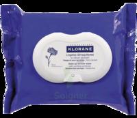 Klorane Soins Des Yeux Au Bleuet Lingette Démaquillante Biodégradable Pack/25
