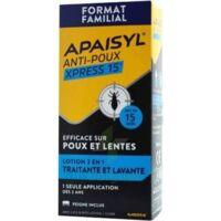 Apaisyl Anti-poux Xpress 15' Lotion Antipoux Et Lente 200ml+peigne à LABENNE