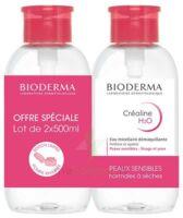 Crealine H2o Solution Micellaire Nettoyante Apaisante Sans Parfum 2fl Pompe Inversée/500ml